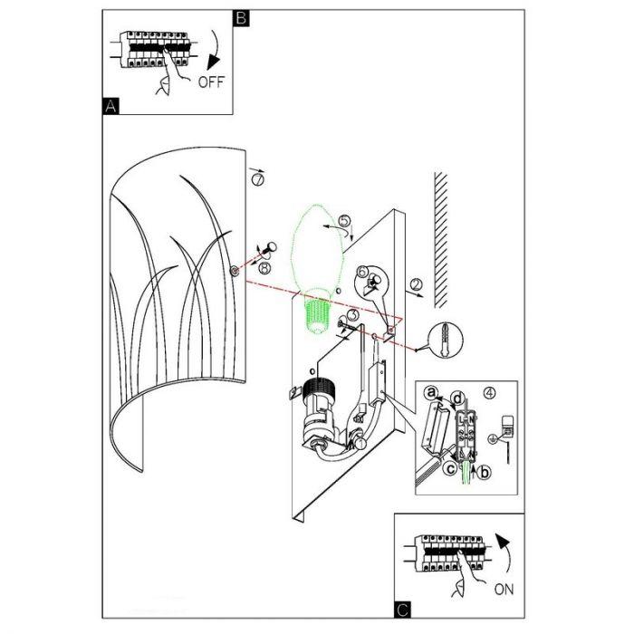 Ilyas design wandlamp gelakt glas