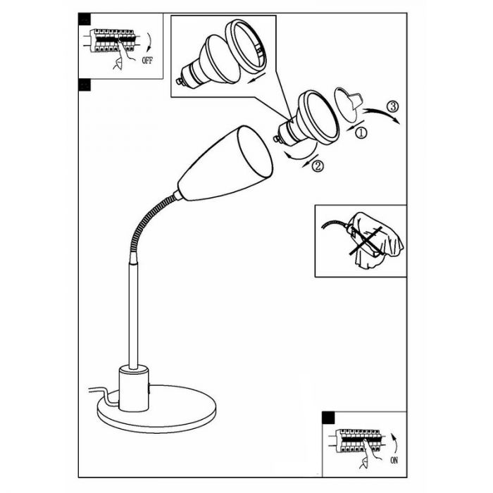 Said tafellamp flexibel wit