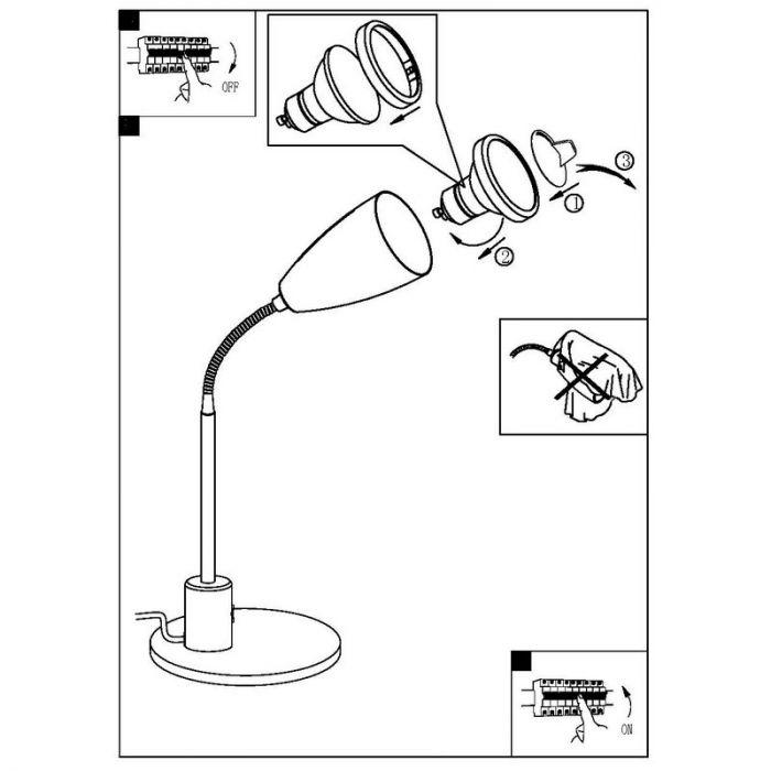Said tafellamp flexibel antraciet