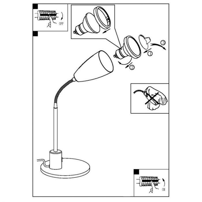 Said tafellamp flexibel paars