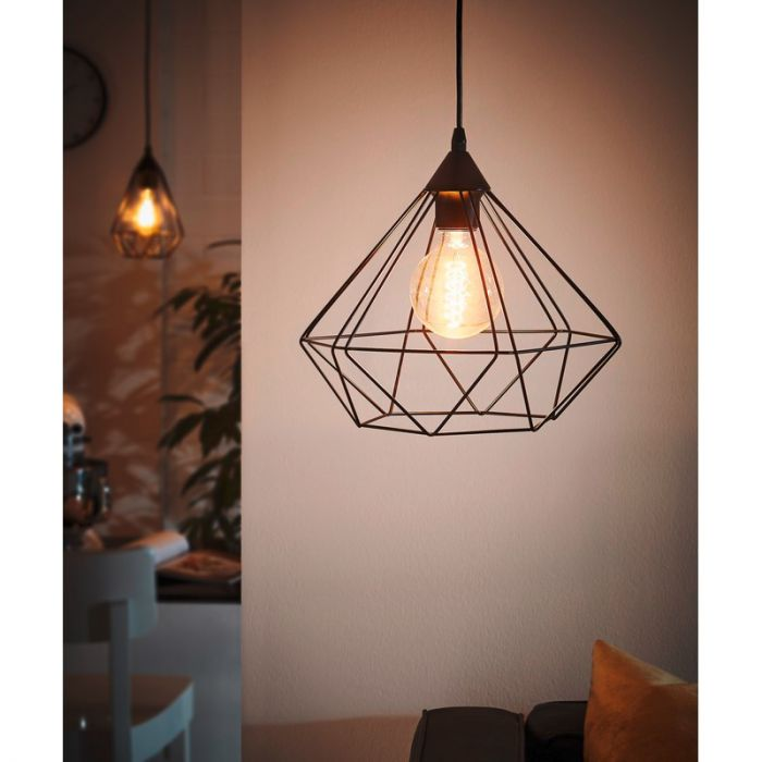 Hippe zwarte hanglamp Costel