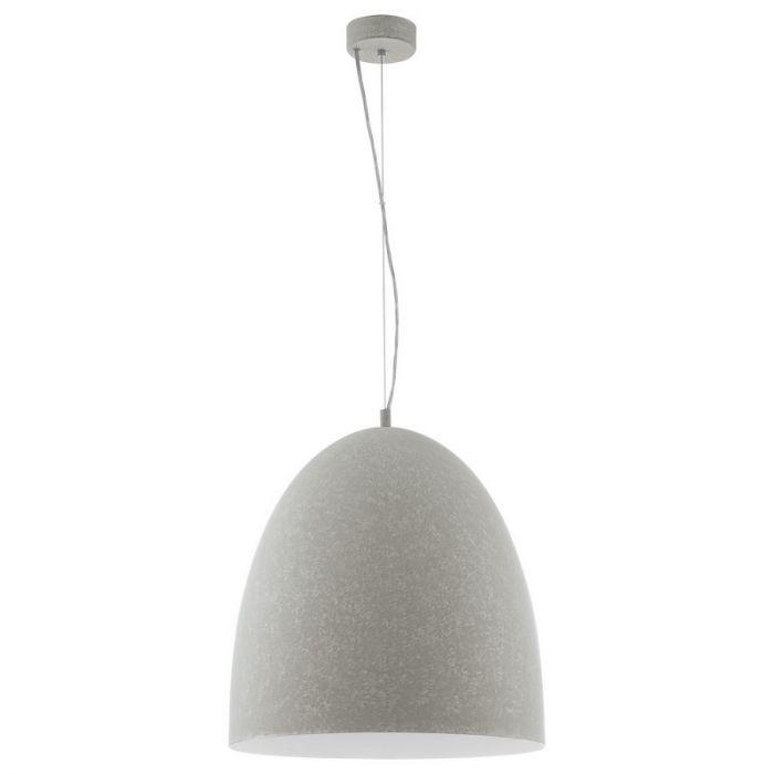 Grote betongrijze hanglamp Ago