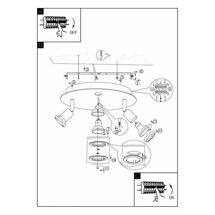 Aaltjen plafondlamp - Nikkel-Mat Chroom