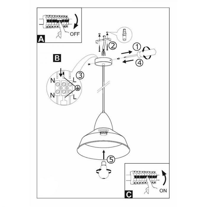 Abdi hanglamp - Zandkleur