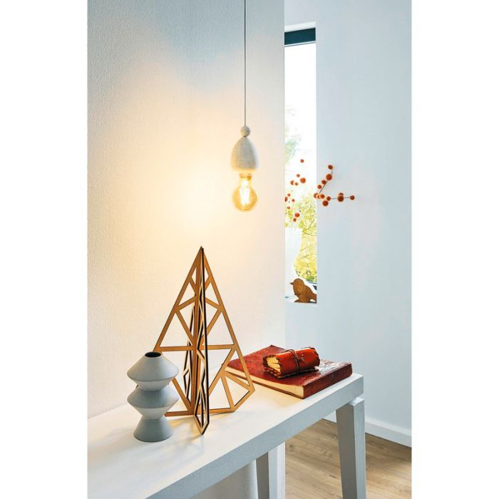 Abida hanglamp - Patina Wit