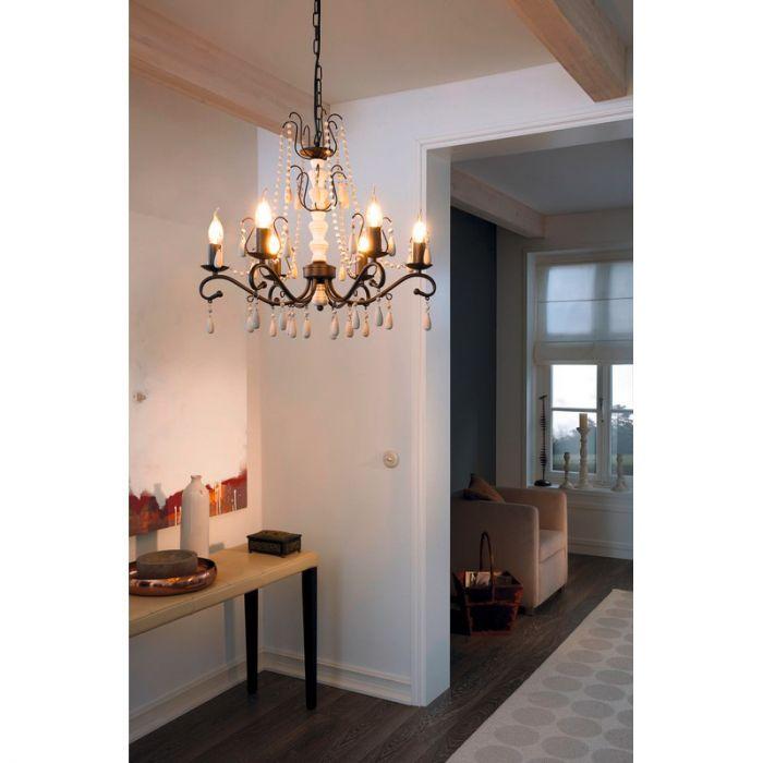 Adrie hanglamp - Bruin Wit