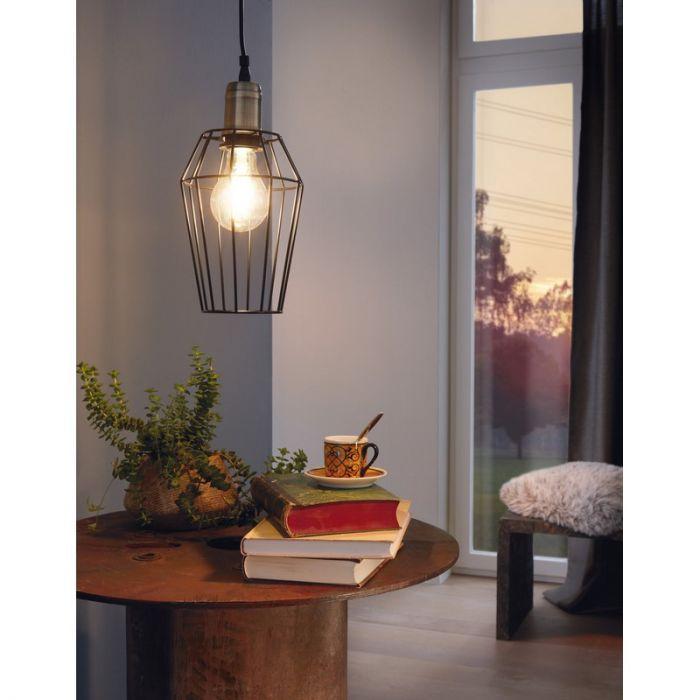 Aimen hanglamp - Brons Zwart