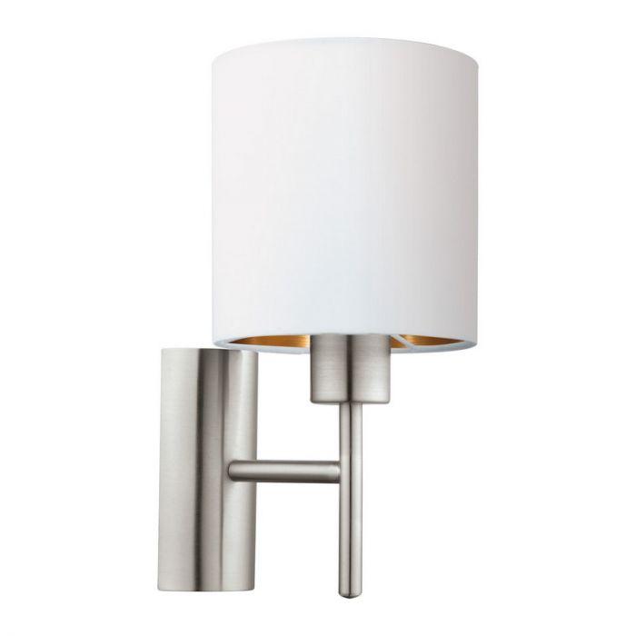 Andres wandlamp - Nikkel-Mat