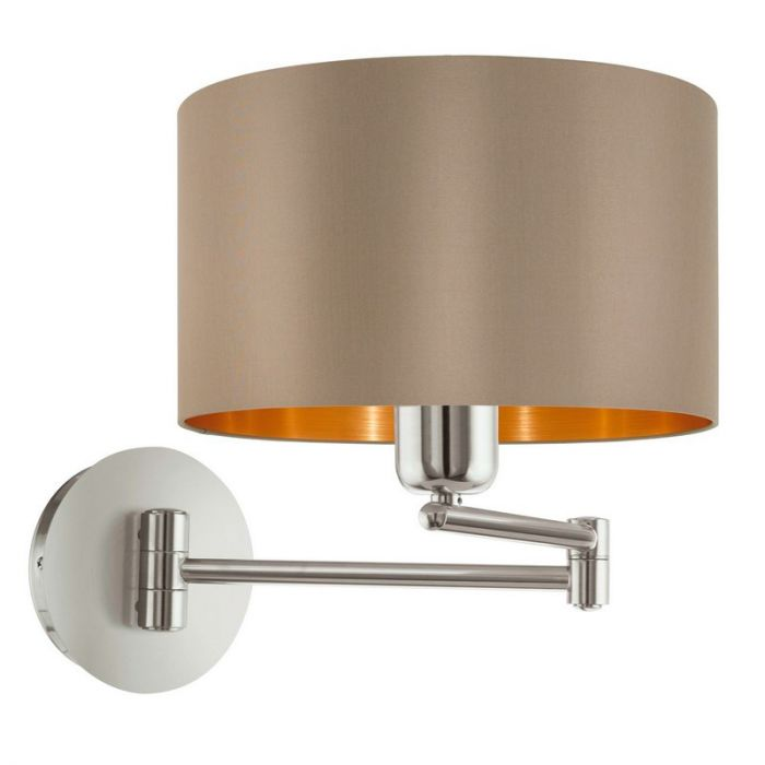 Andries wandlamp - Nikkel-Mat