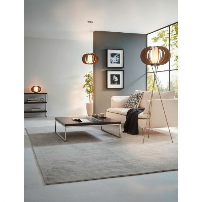Arend vloerlamp - Nikkel-Mat