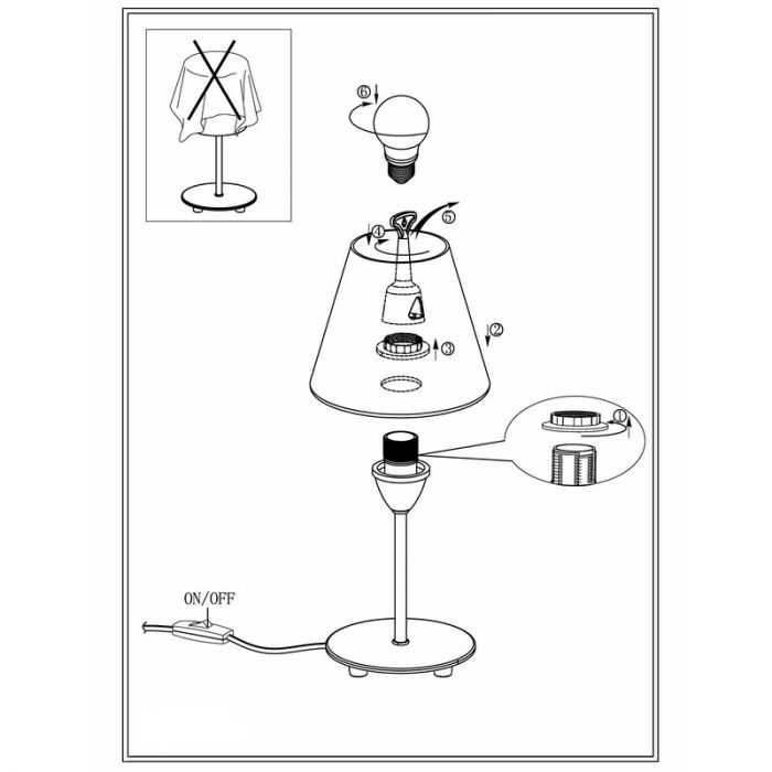 Asmaa tafellamp - Nikkel-Mat