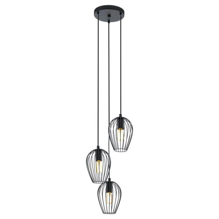 Arbus ronde hanglamp Draadmetaal Zwart