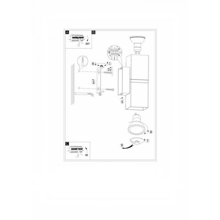 Bouwina wandlamp - Nikkel-Mat Chroom