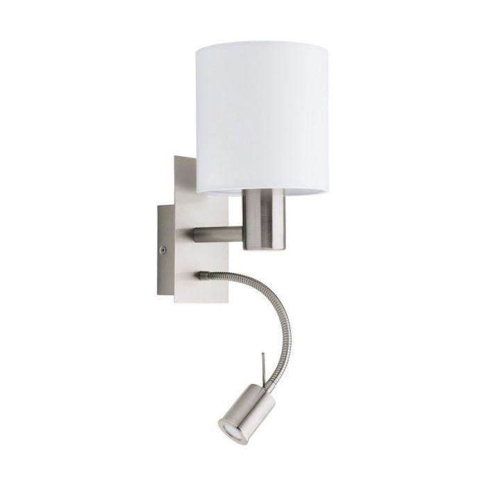 Bruce wandlamp - Nikkel-Mat