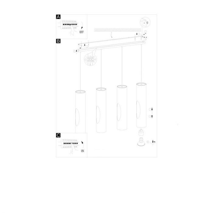 Cedric hanglamp - Nikkel-Mat Glanzend Wit