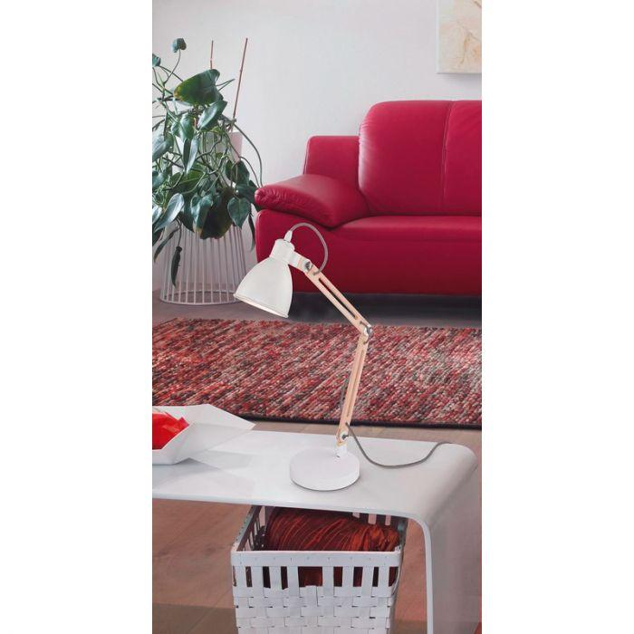 Ceyda tafellamp - Wit